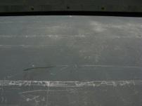 writings on boat ...